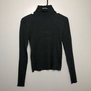 Zara Turtle Neck Top Size Large *FITS LIKE SMALL*